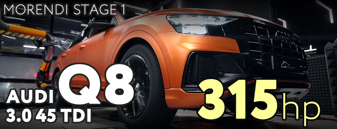 Флагманский кроссовер Audi Q8 45 TDI - Morendi Stage 1