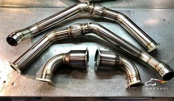 Даунпайпы и Мидпайпы 89мм для Porshe Panamera 2.9 V6 biturbo - фото 17125