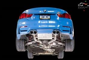 Выхлопная система AWE Tuning BMW F8X M3/M4 Non Resonated SwitchPath Exhaust - Diamond Black Tips (102mm) - фото 4504