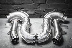 Даунпайп (Downpipe) и Мидпайп (Midpipe) 84мм для Mercedes GLC63 AMG 2018+