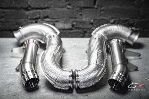 Даунпайп (Downpipe) и Мидпайп (Midpipe) 84мм для Mercedes E63 E63S AMG кузов W213 с двигателем M177
