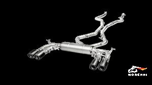 Выхлопная система AKRAPOVIC Evolution для BMW F85 X5M, F86 X6M (с карбоновыми насадками)