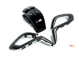 Карбоновая накладка на ручку АКПП M Performance для BMW M5 F90.