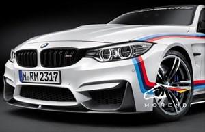 Карбоновый сплиттер переднего бампера M Performance для BMW M3 F80/M4 F82