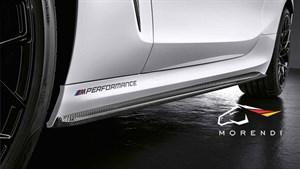 Карбоновые накладки на пороги M Performance для BMW M8 F91/92
