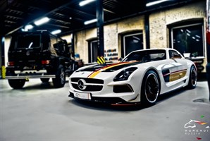 Mercedes SLS 6.2 V8 (571 л.с.) двигатель M159 V8 NA